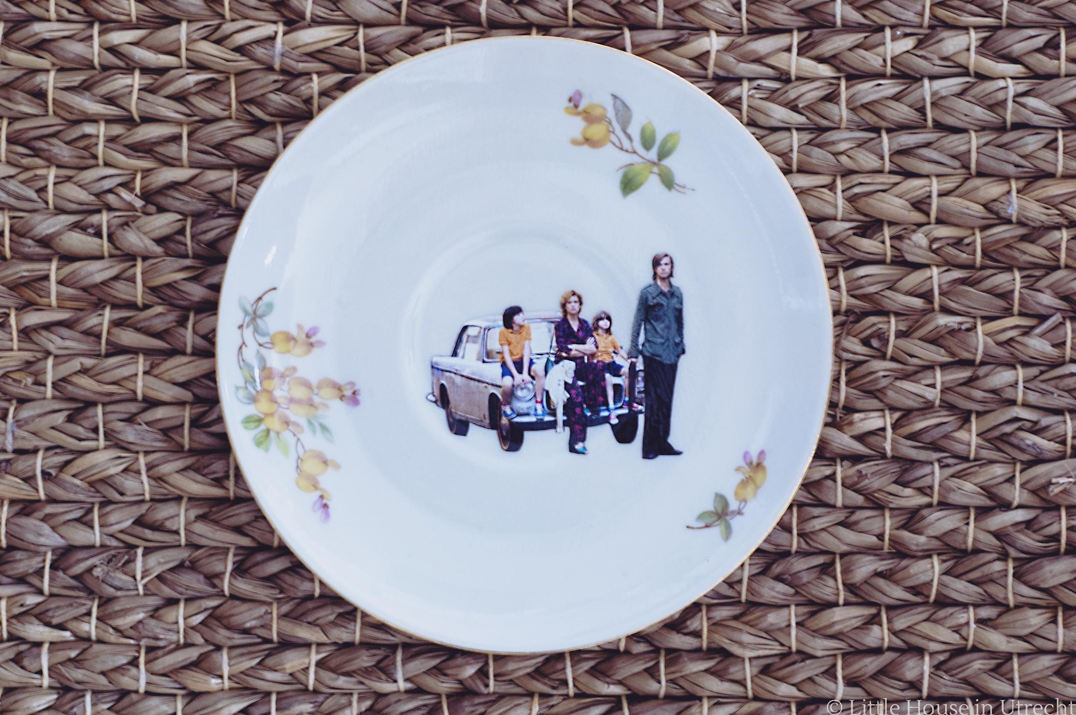 dishipline, vintage plate, decoupage