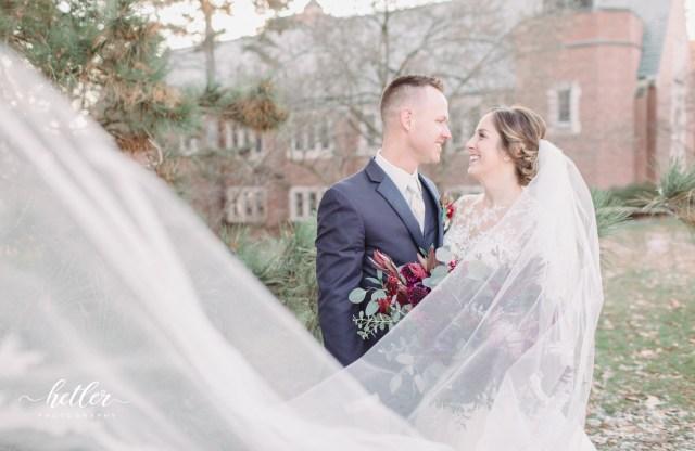michigan state university wedding   liz & marty's winter
