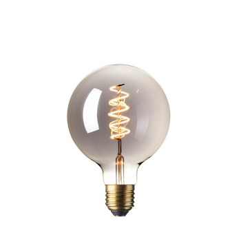 Calex LED Flex Globe 125mm 4W Titanium 2100K 425783