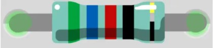 Código de colores en las resistencias 5 bandas