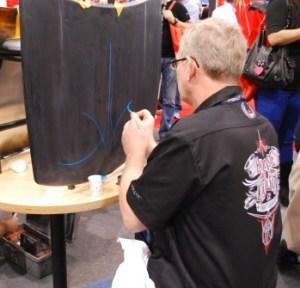 SATA Booth doing demos
