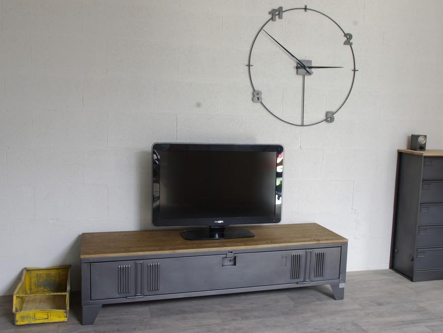 Vestiaire Transform En Meuble TV Industriel Metal Et