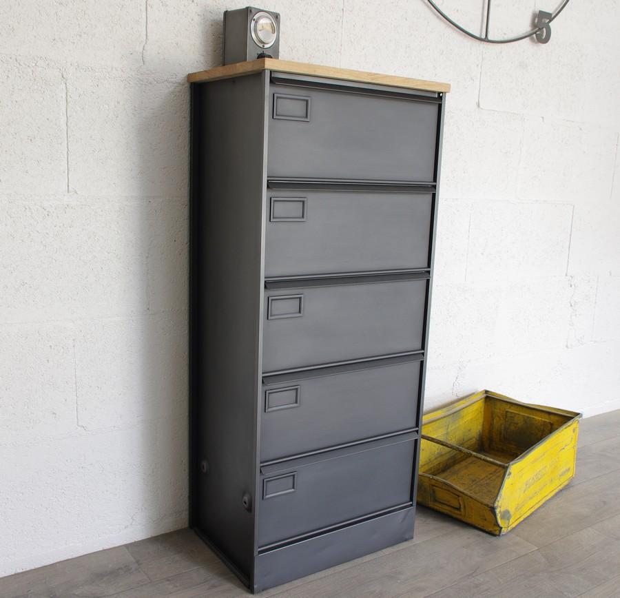 meuble a 5 clapets metalliques ref lubbock