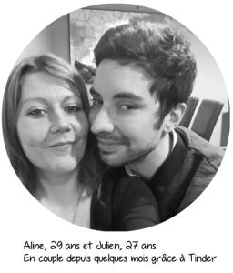 Heureuse en amour- Photo d'Aline et Julien qui se sont rencontrés sur Tinder et sont en couple depuis plusieurs mois grâce à cette appli.