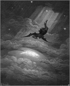 Lucifer styrtes fra Himmerige.