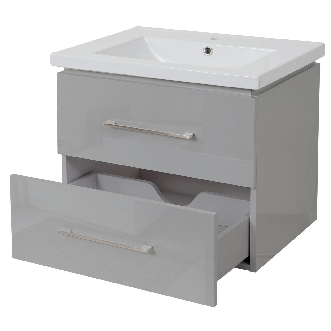 Premium Waschbecken Unterschrank Hwc D16 30mm
