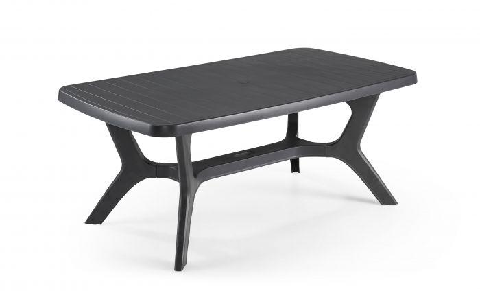 table de jardin baltimore d allibert anthracite