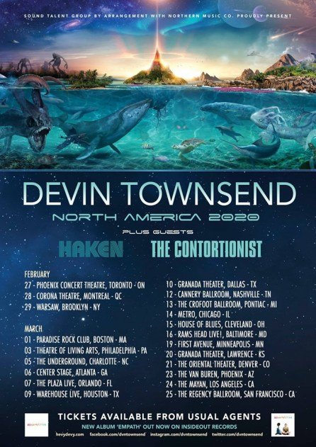 Image result for devin townsend north american tour 2020