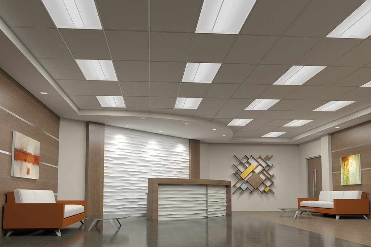At2 Architectural Led Troffer Curved Deep Center H E
