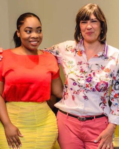 Moesha Boduong and Christiane Amanpour