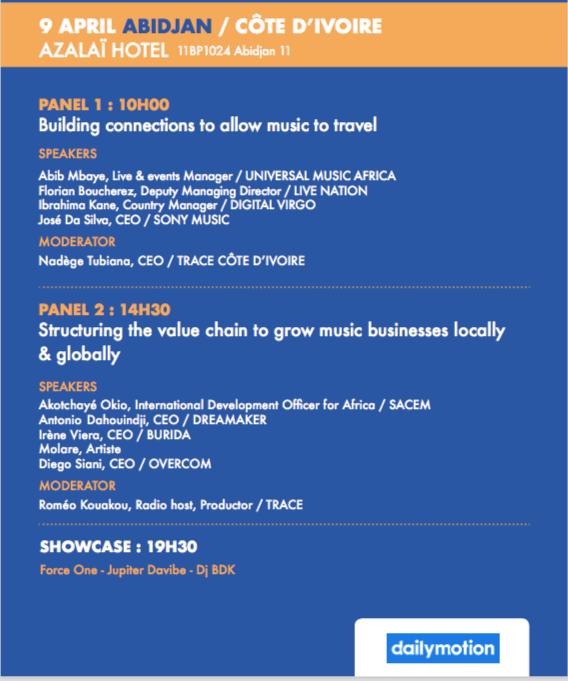 Programme du Midem African Forum - Abidjan