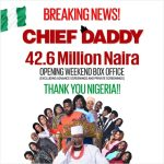 Chief Daddy, 42.6 Million Naira at opening weekend box office