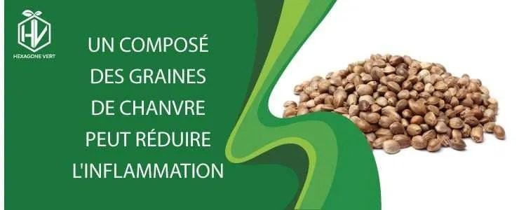 Un composé des graines de chanvre peut réduire l'inflammation