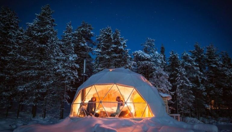 Geodesic Aurora Domes Offer Enchanting Views Of Northern
