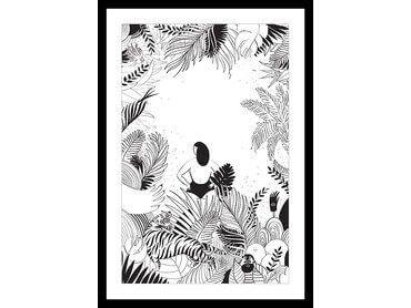 Affiche Jungle Sous Cadre Pas Cher