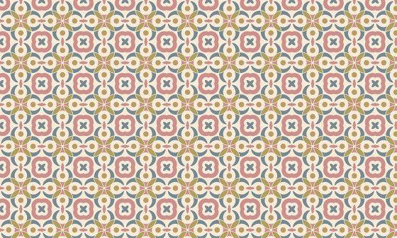 papier peint motifs carreaux vintage
