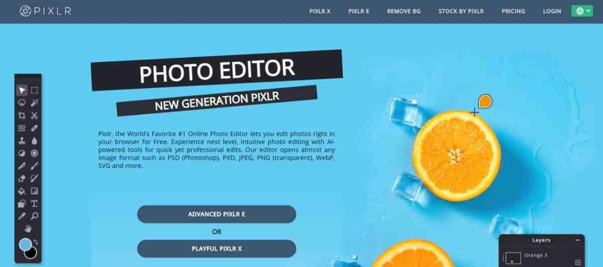 Pixlr: Photo editor online