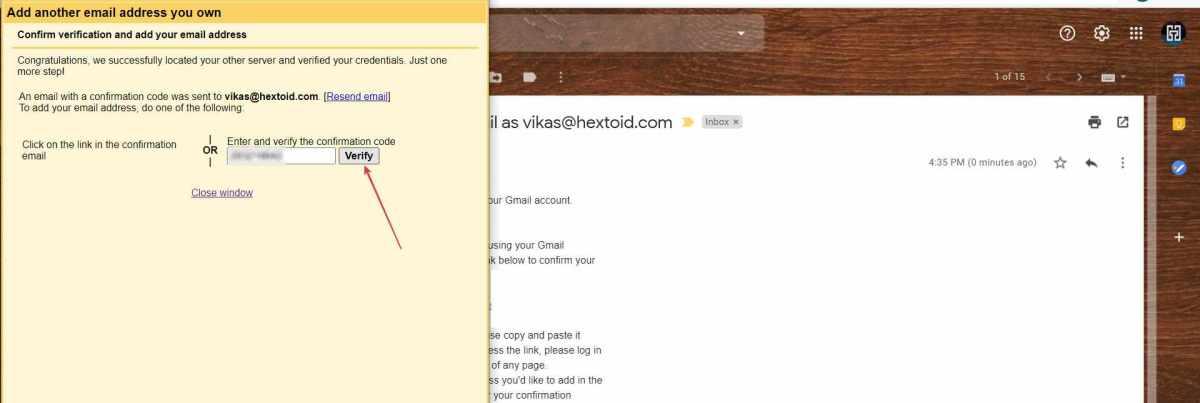 Enter Verification Code Click Confirm