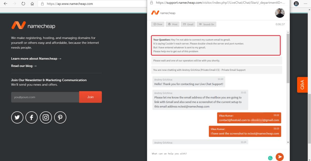 Namecheap Customer Support