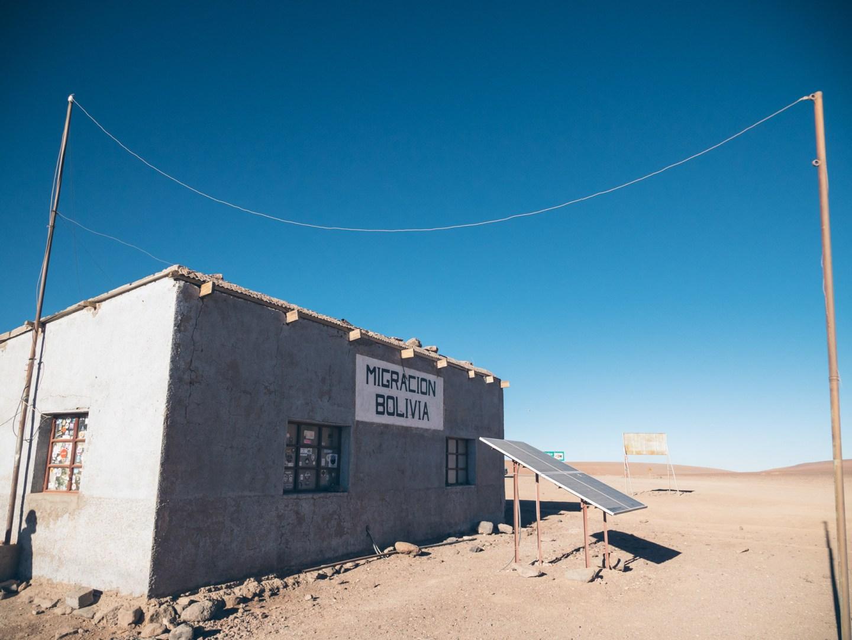 C'est ici pour entrer en Bolivie