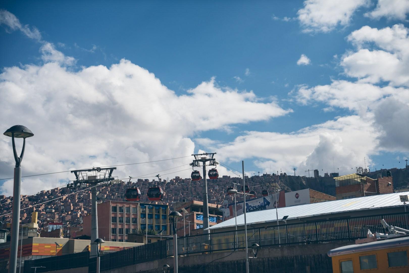 Le réseau de téléphérique à La Paz