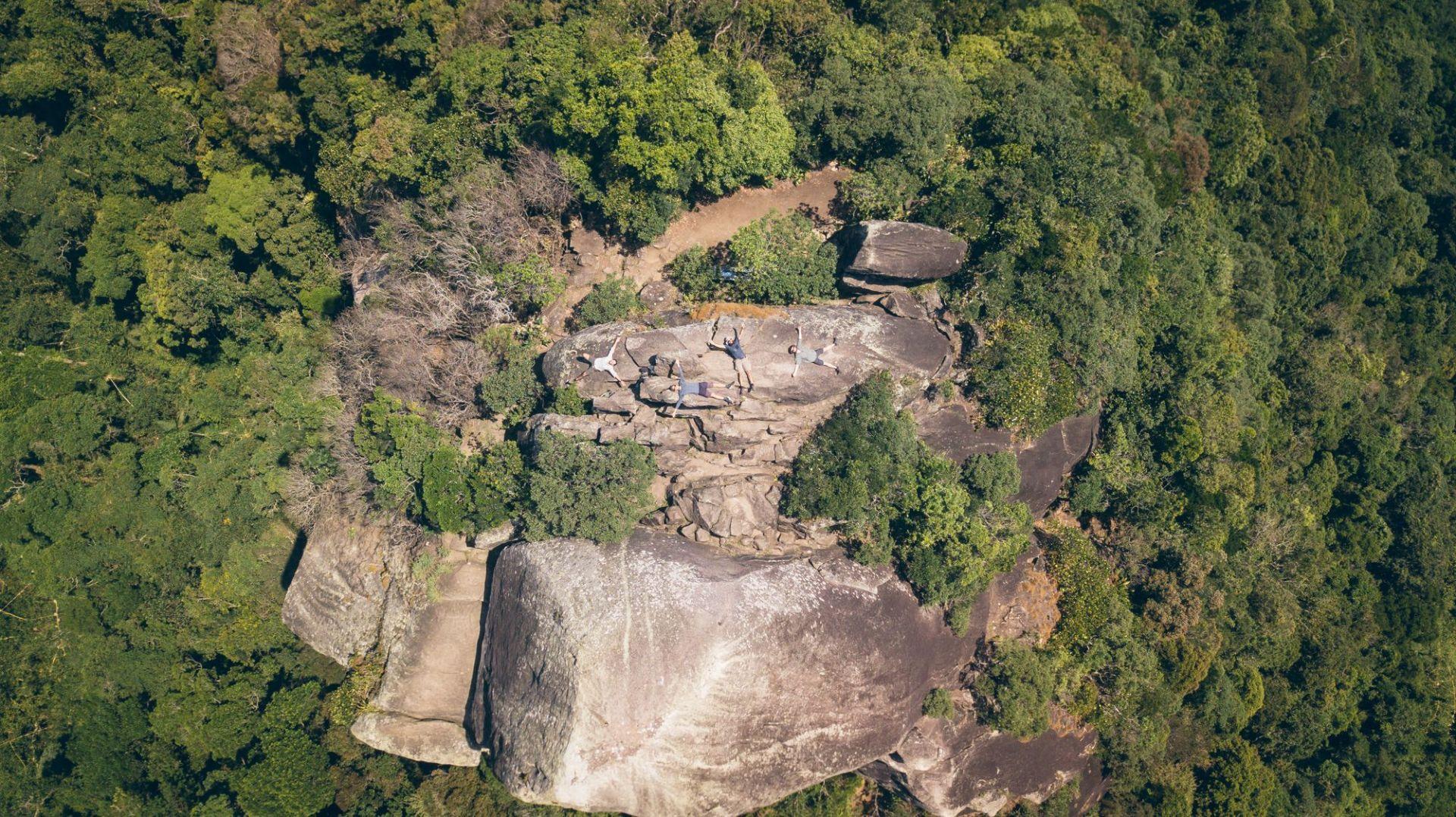 Au sommet de La Pedra Bonita