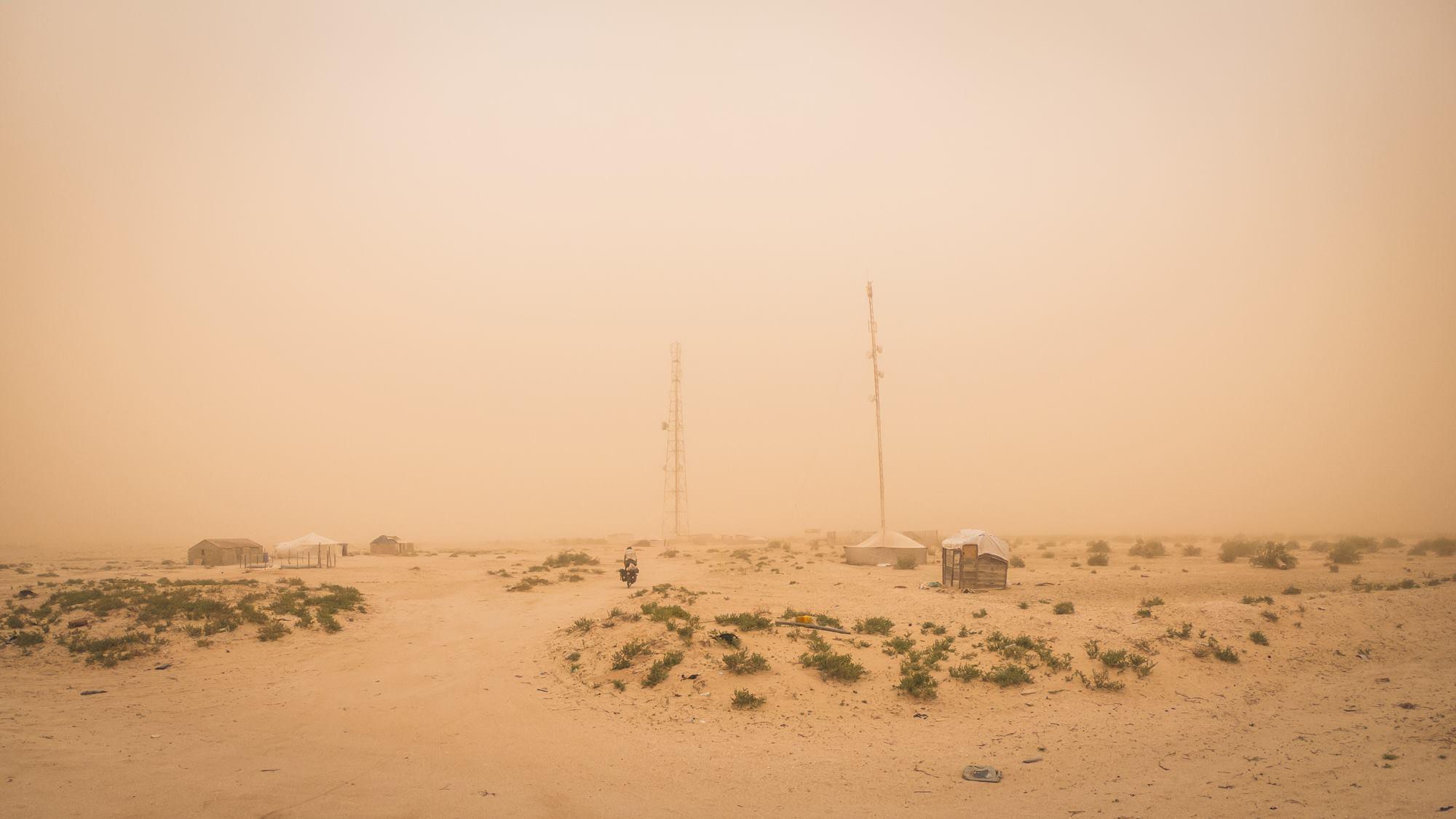 Tempête de sable en cours