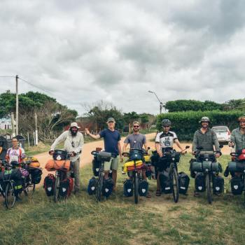 8 voyageurs à vélo