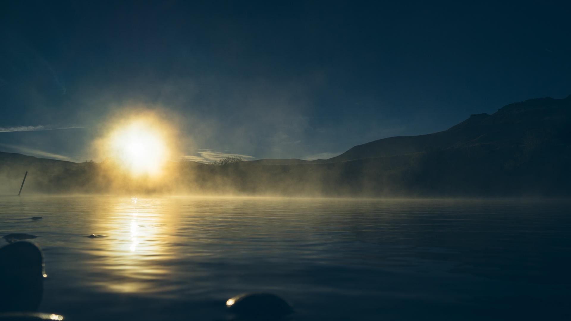 Levé de soleil dans la région des lacs