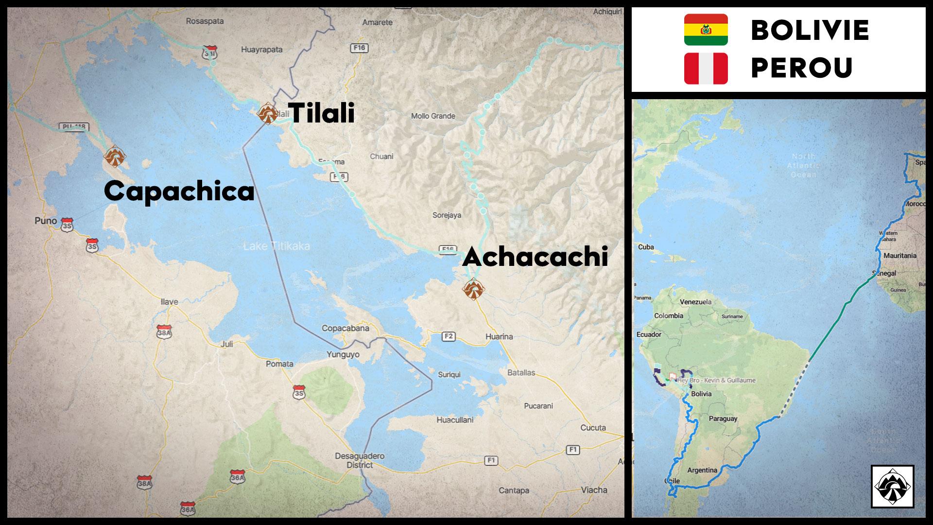 Carte - De Achacachi à Capachica