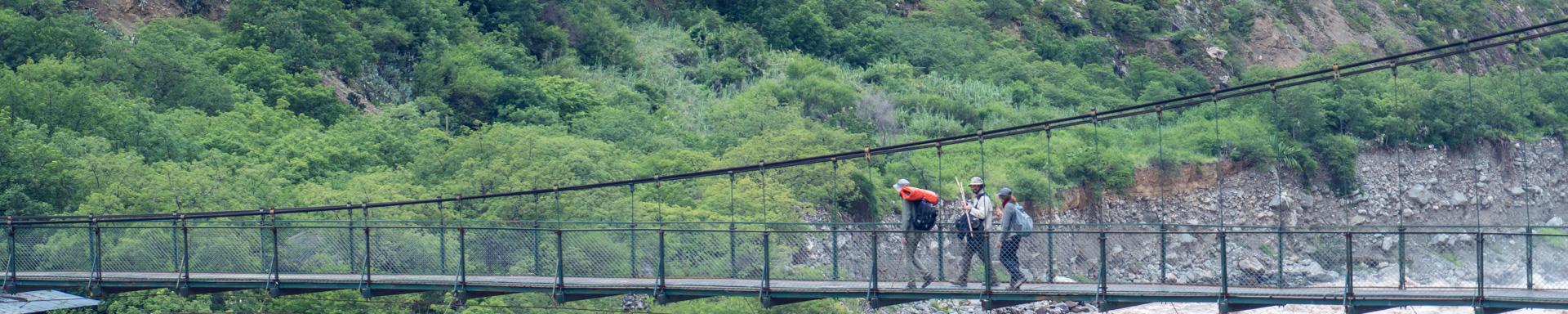 Randonnée pour Choquequirao - Deuxième pont pour attaquer la grande  ascencion finale