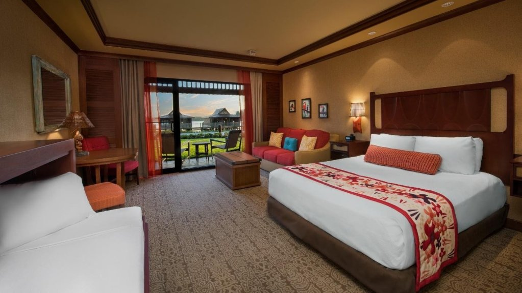 Walt Disney World Resorts Guide by Heyday Travel Company here is an Image of a Disney Resorts hotel room