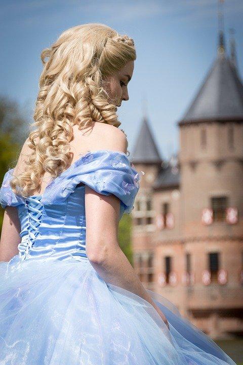 Disney fairytale Cinderella cartoon character model