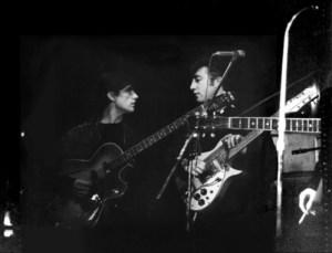 John and Stu onstage in Hamburg
