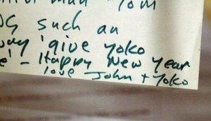 Undelivered Lennon Letter to fan, 1970.