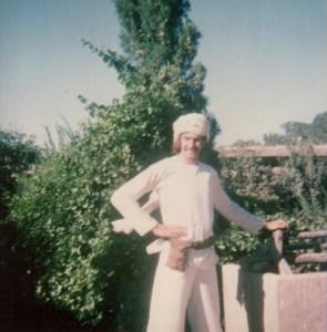 Big Mal at the Maharishi's ashram in Rishikesh, 1968