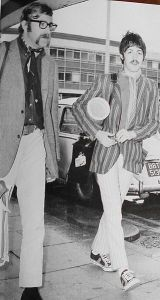 Evans with Paul McCartney