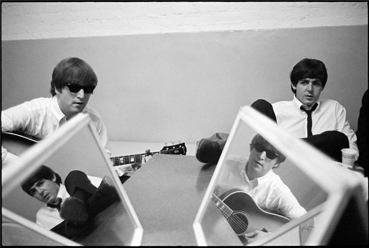 john and paul with mirrors