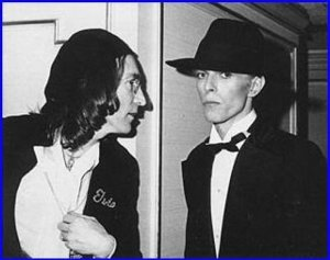John Lennon and David Bowie