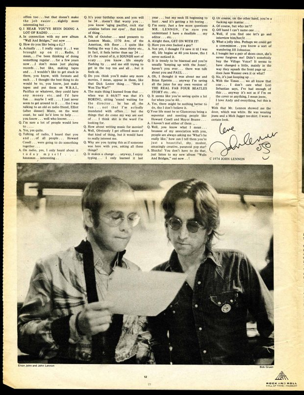Lennon UFO Interview 1974