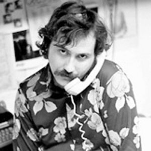 Lester Bangs takes a call, mid-70s.