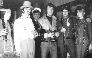 """December 21, 1967: John, Paul and Ringo at the party celebrating the BBC's transmission of """"Magical Mystery Tour."""""""