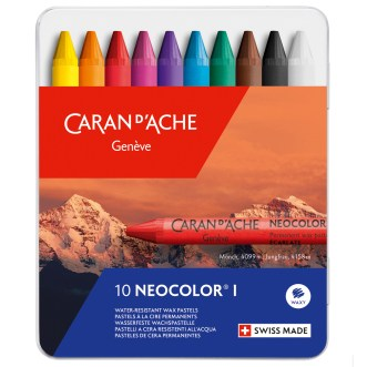 Caran D'Ache Neocolor I set of 10 pastels