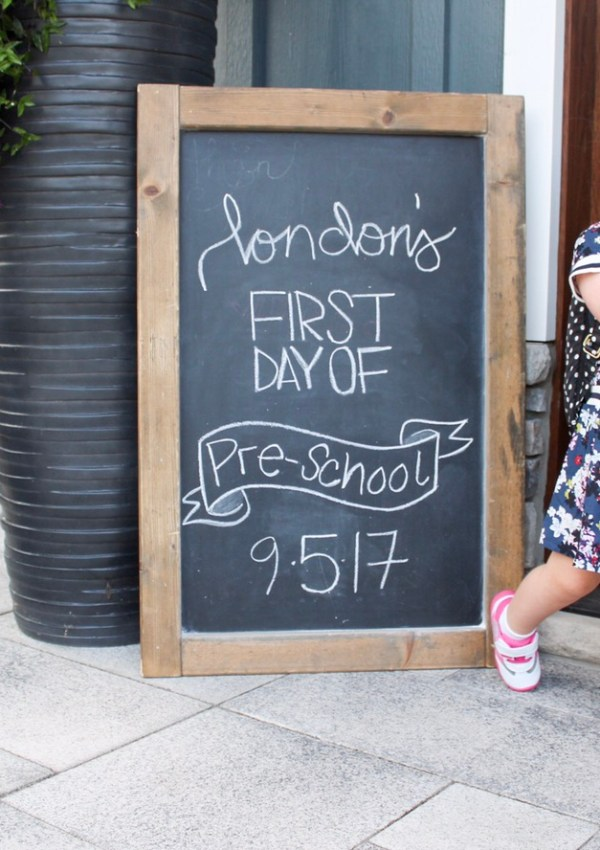 London's First Day of Preschool