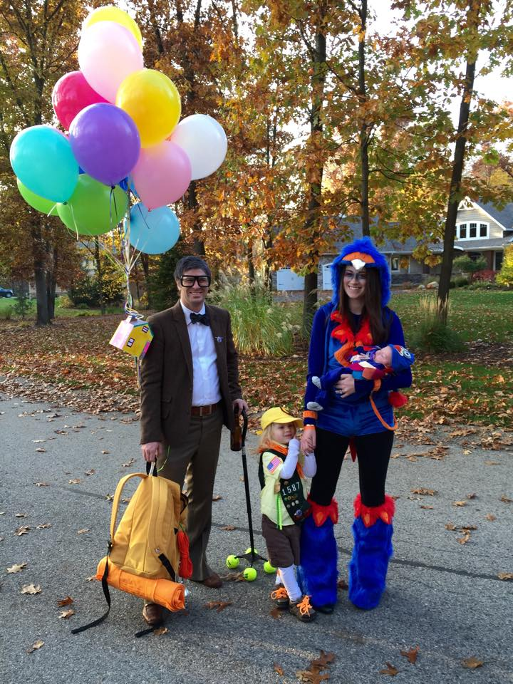 family of 4 halloween costume pixar up