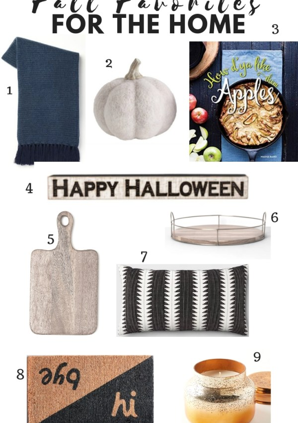 Fall Favorites for the Home