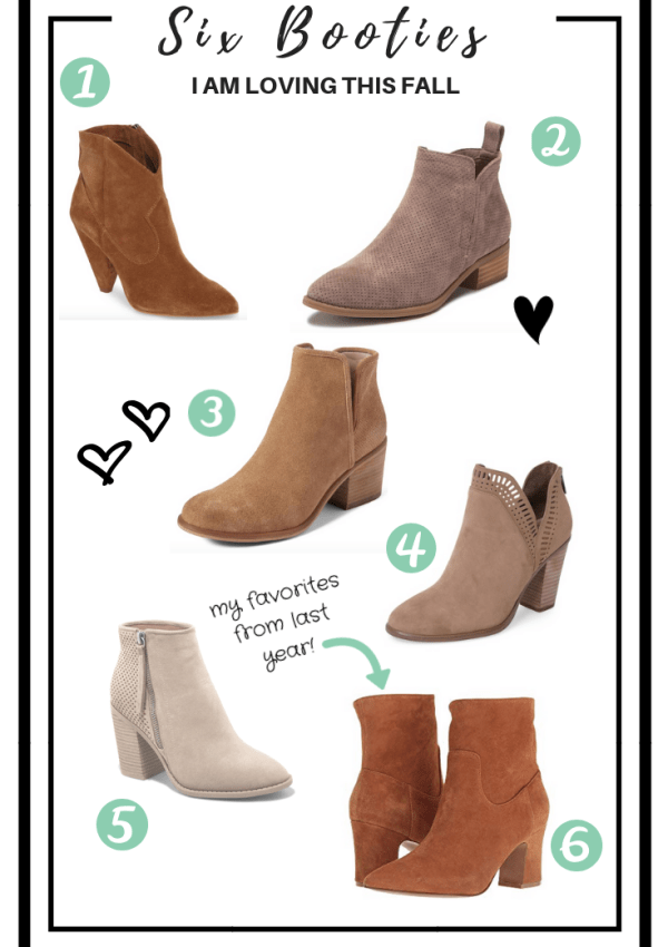 Six Booties I am Loving this Fall