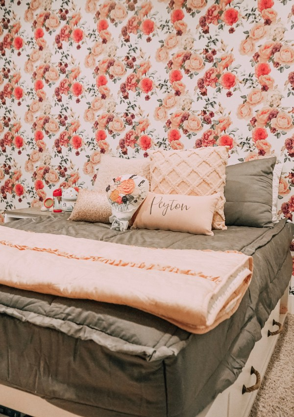 Peyton's Floral-Themed Bedroom