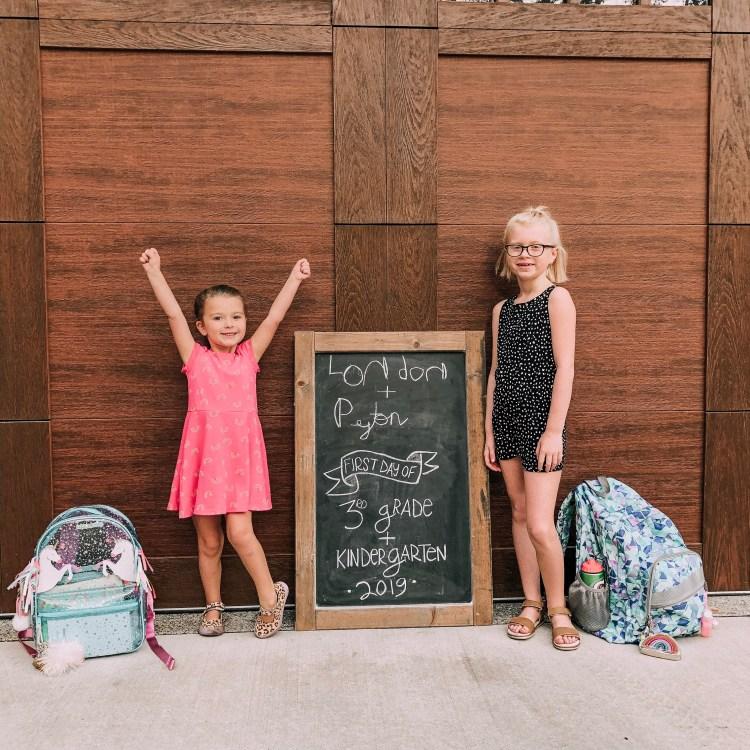 first day of school heyitsjenna chalkboard