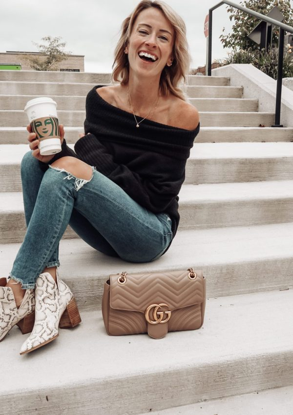 An Off-The-Shoulder Statement Sweater